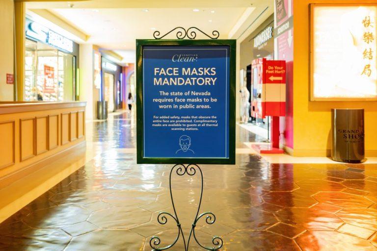 Mandatory Masks Make a Comeback in Las Vegas Casinos as 12 Nevada Counties Up Measures
